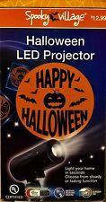 Halloween LED Projector with Happy Halloween in orange moon - NEW