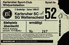 Ticket II. BL 86/87 Karlsruher SC - SG Wattenscheid 09