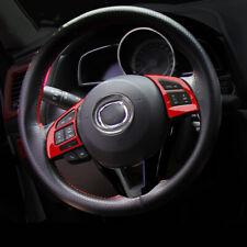 Fit for Mazda3 Mazda6 CX-5 CX-3 mazda2 Steering Wheel Frame Decorator Cover