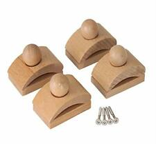 Classy Clamps Wooden Quilt Hangers 4 Small Clips (Light) and Screws for Wall