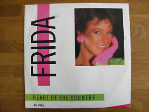 """FRIDA HEART OF THE COUNTRY (Kirsty Maccoll) 1984 12"""" VINYL 45rpm 1988 EX / VG+"""