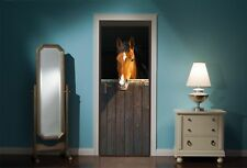 Door Mural Horse Horses Stable View Wall Stickers Decal Wallpaper 44