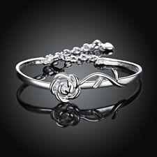 Flower Women Fashion Bracelet Bb237 925Sterling Silver European Jewelry Rose