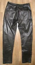 """"""" Polo """" Men's Leather Jeans/Motorcycle - Trousers IN Black Approx. W30 """"/ L32 """""""