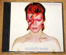 DAVID BOWIE ALADDIN SANE ORIGINAL 1ST PRESS REMASTERED UK EMI 10-TRACK CD 1990