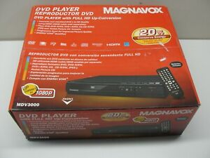NEW MAGNAVOX DVD PLAYER W/ FULL HD UP CONVERSION MODEL MDV3000