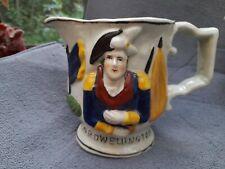 More details for staffordshire prattware style commemorative portrait jug lord wellington 14cm h