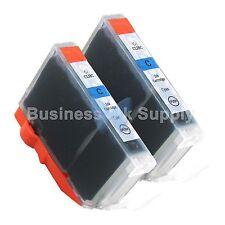 2 CYAN CLI-8 CLI-8C Compatible Ink Cartridge for Canon Printer CLI-8 CLI8 CLI-8C