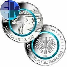 Pièces euro d'Allemagne pour 5 euro