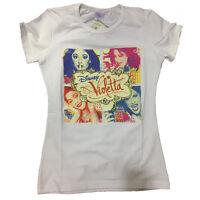 VIOLETTA t-shirt blanc imprimé multicolore coton taille 8 ans de fille
