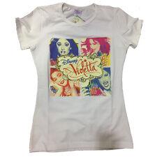 VIOLETTA camiseta en blanco con estampado multicolor de algodón talla 8 años