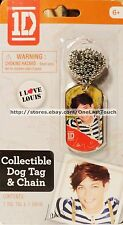 ONE DIRECTION Collectible Dog Tag I LOVE LOUIS Ball Chain Necklace 1D (carded)