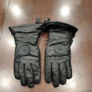 Harley Davidson Black Leather Riding Gloves Size XS Lightly Padded 2RXT-H-DMC