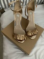 Rose Gold river island heels 7