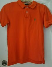 Ralph Lauren Womens Polo Shirt Size Small Orange Button Fitted Casual