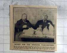 1913 Mr Hill And Mr Smith With Bags Of Money For Striking Taxi Drivers