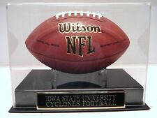 Football Case With An Iowa State Cyclones Engraved Nameplate For Your Football