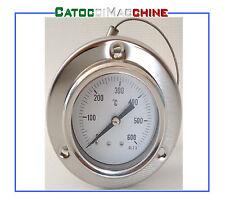 PIROMETRO FORNO LEGNA BARBECUE TERMOMETRO ACCIAIO INOX 600°C
