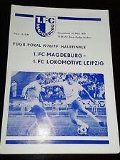 Programm FDGB Pokal 10.3.1979 1.FC Magdeburg 1.FC Lok Leipzig DDR Oberliga FCM