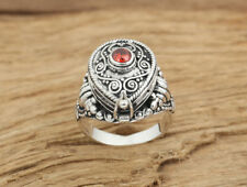 925 Sterling Silver  memory Cremation Ash Urn  ring Jewelry us size 7-9 P150