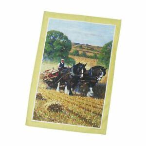 Country Life Tea Towel 100% Cotton Stow Green Kitchen Baking 74 x 46cm