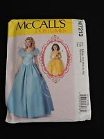 McCalls Costumes Sewing Pattern Dress Gown Princess M7213 Miss S-XL Halloween