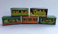 Collectible Antique 1930 Montpellier Biscuits Flor Tin Train Loco + 4 Carriages