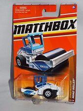 Matchbox Diecast 2011 Construction Series #43 Road Roller White & Blue