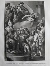 1830 Aguafuerte San Guillermo y San Felix Guercino Francesco Barbieri Rosaspina