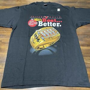 Vintage 1996 Chicago Bulls NBA's Best Just Got Better Large T-Shirt NEW