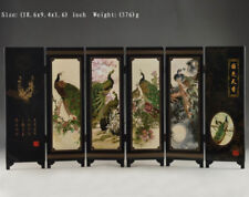Details Old about Superb Beautiful Oriental Lacquer Handwork Painting LQQ110