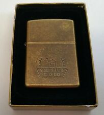 Zippo Lighter Camel Cigarettes Antique Brass Genuine Taste Since 1913 New