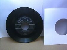 Old 45 RPM Record - Decca 9-29725 - Four Aces - A Woman in Love / Of This I'm Su