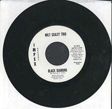 "Milt Sealey trio 45 7"" BLACK DIAMOND JAZZ PRIVATE MOD Avantgarde PROMO LOUNGE"