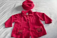 Pumpkin Patch jacket and matching hat - size/age 2