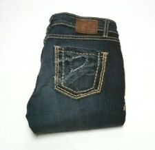 Womens BKE Madison Skinny Jeans 29x34 Stretch Distressed Stitched Embroidered
