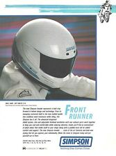 Simpson Invader Crash Helmet - Original 1989 USA Vintage Magazine 1-Page Advert