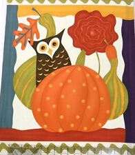 Moda Sandy Gervais Fall Back In Time Autumn Harvest Owl Pumpkin Panel