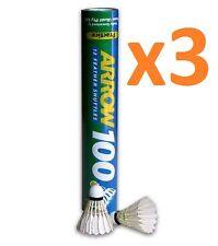 36x EYE CUE ARROW 100 PRACTICE Feather Badminton Shuttlecocks Shuttles