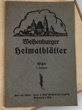 WEIßENBURGER HEIMATBLÄTTER 1941 DRUCK & VERLAG BRAUN & ELBEL WEIßENBURG