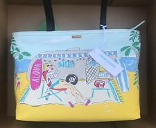 Kate Spade Aloha Francis Hawaii Exclusive Large Canvas Tote Beach Bag