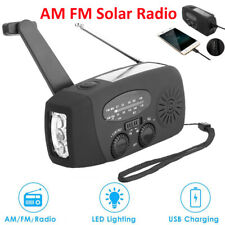 AM FM Solar Radio LED Flashlight Emergency HandCrank Dynamo Bright Lighting Lamp