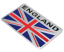 "ALUMINUM England Flag Emblem Sticker 3D Decal For Auto, Car, & Truck 3.15""x2"""