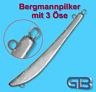 Bergmannpilker Pilker mit 3 Öse  260g, 400g, 450g für Dänemark, Norwegen, etc.