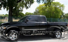 1998-2001 Dodge Ram Quad/Extended Cab Flat Chrome Body Side Molding 4Pc Trim