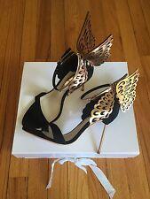 NIB SOPHIA WEBSTER Evangeline Leather Sandals Heels Wedding shoes black/gold 38
