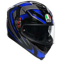 CASCO INTEGRALE AGV K-5 S - HURRICANE 2.0 BLACK - BLUE TAGLIA M/S