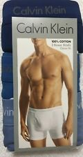 Calvin Klein 3-Boxer Briefs-100% Cotton-X- Large 40-42 Blues  NP2015  (0815)