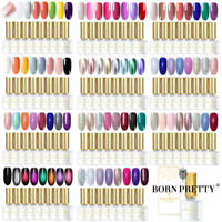 BORN PRETTY 8Stk. UV Gel Nail Polish Set Nail Art Nagellack Maniküre Tips Salon