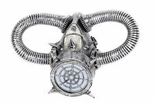 Steampunk Silver Gas Mask Respirator Tube Punk Goth Rave Cyber Burning man